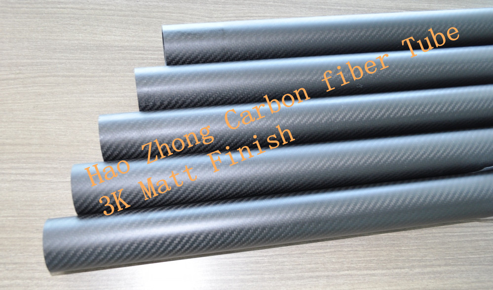 19MM X 17MM 500MM 100% Carbon fiber tube / Tail boom 3k Matt Glossy weave finish