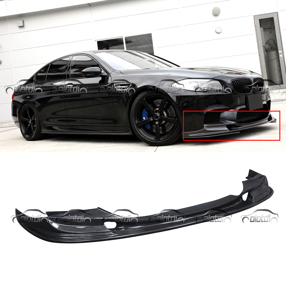3D Design Style Real Carbon Fiber Front Lip Bumper Spoiler for BMW 5 Series F10 F11 M5 Good Go / AN Bumper KitsCar Styling