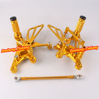 Motorcycle Adjustable Shift Brake Rear Set Footpegs Foot Rest Peg For Yamaha YZF R1 2004 2006