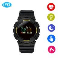 LYKL New V587 Outdoor Sport Heart Rate Smart Watch Pulse Blood Pressure Smart Bracelet Swimming Diving Waterproof Wristwatch