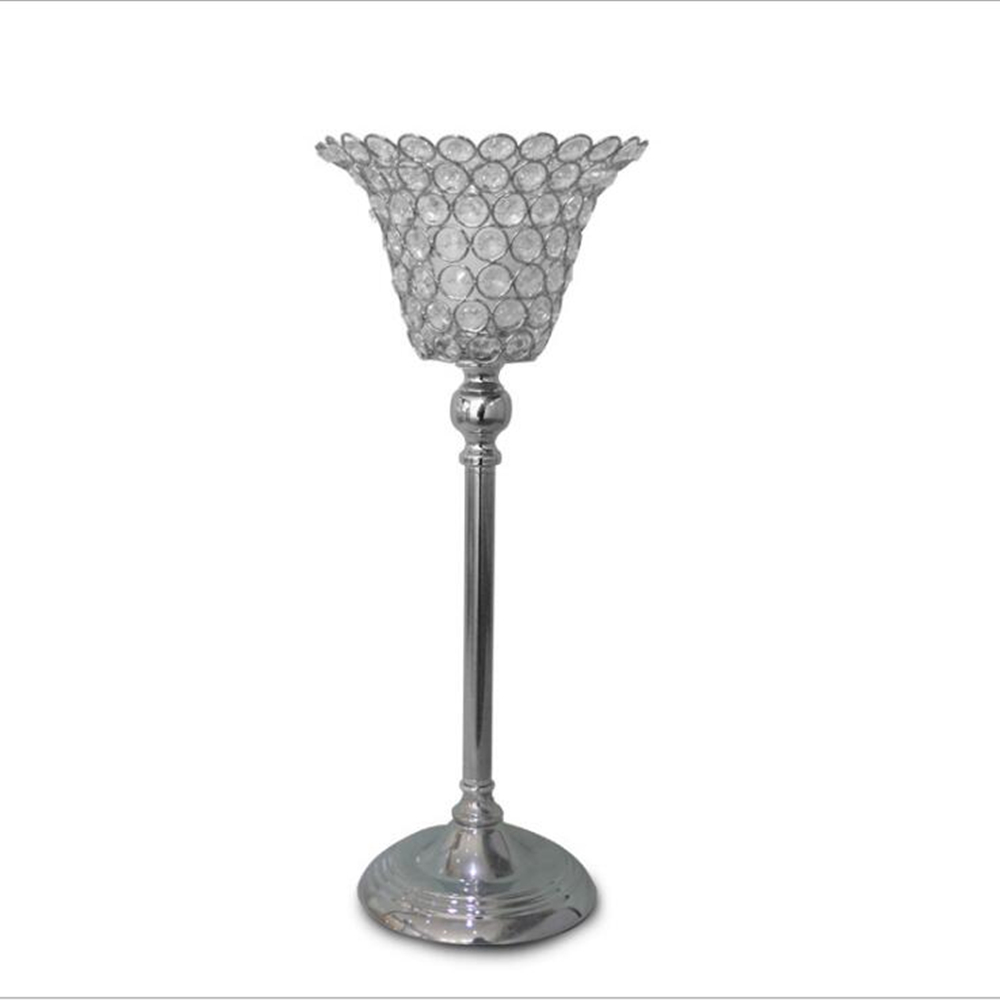 Classic Horn shaped Metal Candle Holders Crystals Wedding Home Party ...