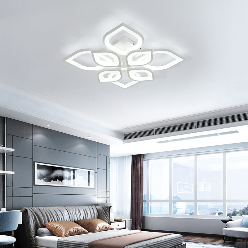 Minimalist Remote Control Indoor Livingroom Modern Bedroom Led Ceiling Light 110V For Bed Living Room Lamp Home Lighting Fixture in Ceiling Lights from Lights Lighting
