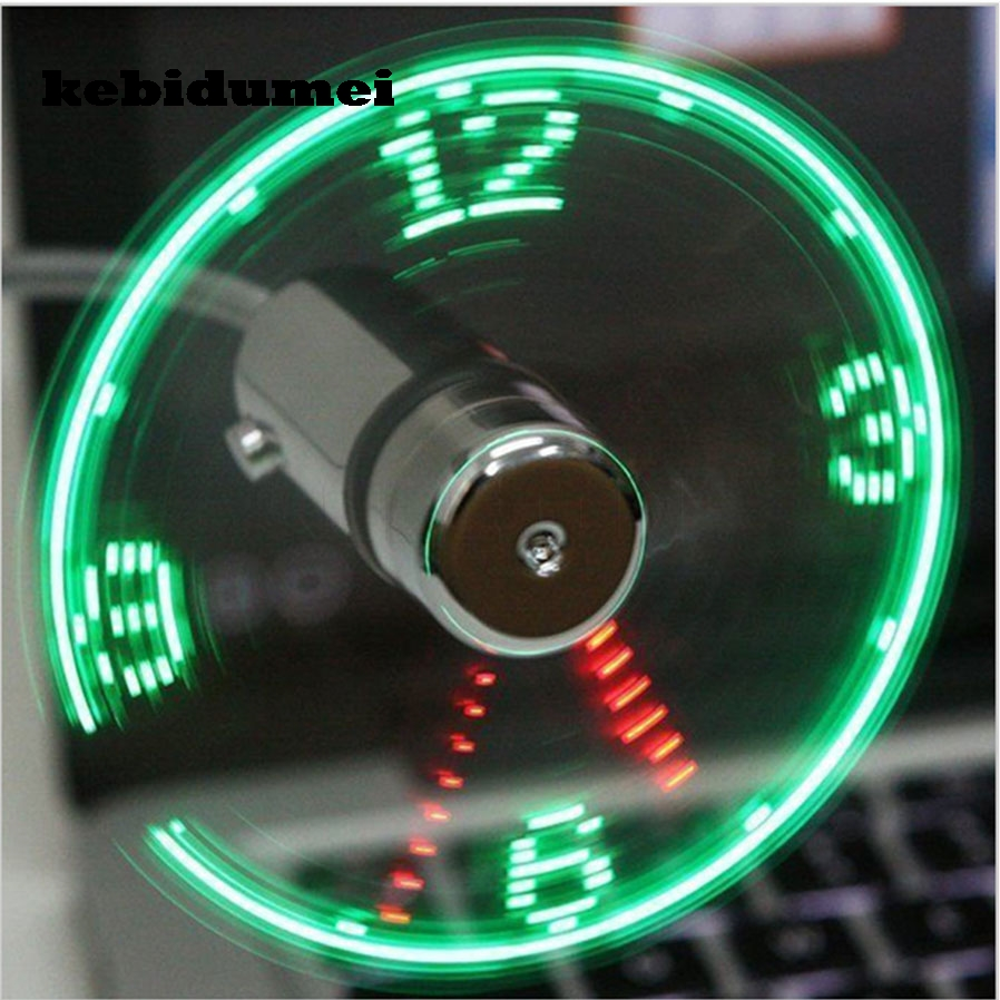 LED Fan USB Gadget Durable Adjustable Mini Flexible Fan LED Light USB Fan Time Clock Desktop Clock Cool Gadget Time Display sacha london полусапоги и высокие ботинки