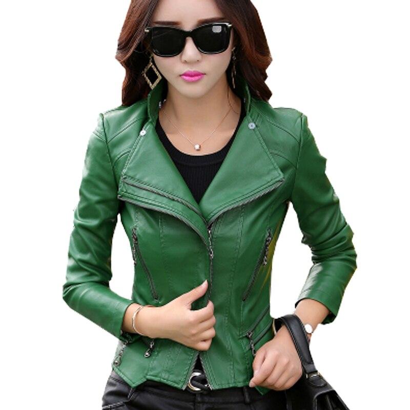 De Zy774 Femmes vert Plus 7xl Beige Moto Femme Couro Solide Vestes bleu rose Slim Jaqueta Nouvelle Pu Taille M rouge Belle noir Cuir Veste En La Manteaux dw8Rz