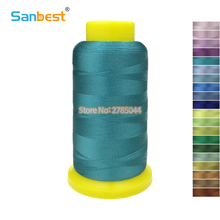 Sanbest 2200M Viscose / Rayon Embroidery Thread Computer Sewing Machine Wholesale DIY Hand Work Gloss Effect Threads TH00026