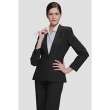 Black Formal Suits for Women Casual Female Office Uniform Ladies Business Suits Formal Work Wear Elegant 2 Piece Pant Suits