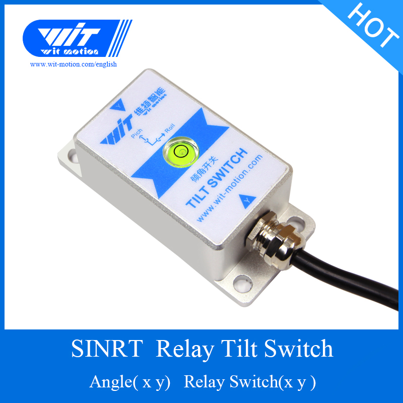 Dashing Witmotion Sinrt 2 Axis High Precision Tilt Angle Measurement & Relay Alarm Switch Waterproof Ip67 Anti-vibration Ahrs Sensor