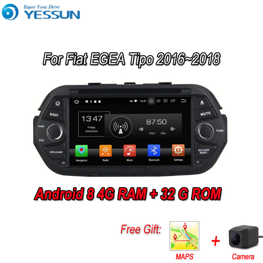 YESSUN Android 8.0 4G RAM Touch Screen DVD For Fiat Tipo 2016~2018 Car Navigation GPS Multimedia Player mirror link AutoradioYESSUN Android 8.0 4G RAM Touch Screen DVD For Fiat Tipo 2016~2018 Car Navigation GPS Multimedia Player mirror link Autoradio