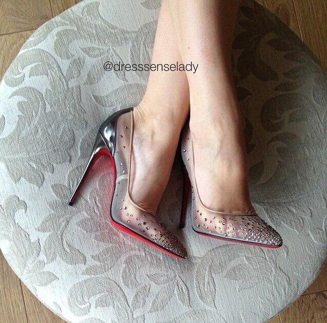separation shoes b75cd 7d13a follies strass women pumps black mesh wedding shoes crystal ...