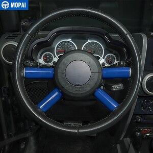 Image 2 - MOPAI ABS Interni Auto Volante Copertura Decorazione Assetto Accessori Sticker per Jeep Wrangler JK 2007 2008 2009 2010