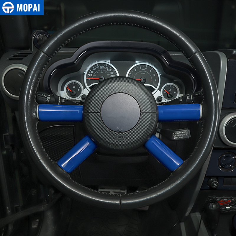 Image 2 - MOPAI Car Interior Steering Wheel Decoration Cover Trim Sticker for Jeep Wrangler JK 2007 2008 2009 2010 Car Accessories Styling-in Steering Covers from Automobiles & Motorcycles