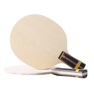 Image 2 - Zhangjike ZL carbon table tennis blade 5 layers wood 2 layers ZLC carbon offensive long handle horizontal grip ping pong racket