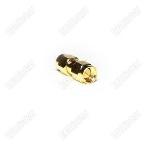 50 peças rf adaptador conector sma macho para sma macho plug em linha reta 50 ohm banhado a ouro adaptador coaxial