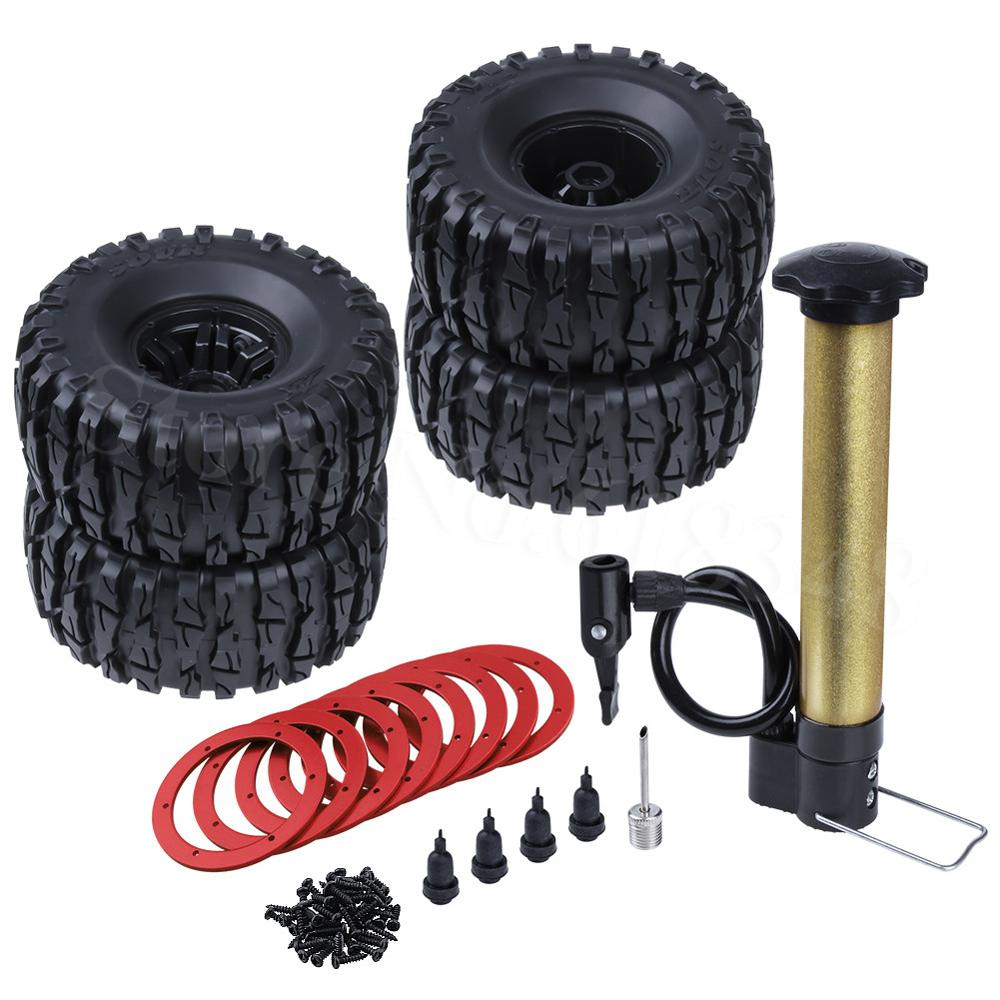 """1 set Inflatable 2.2/"""" Beadlock Wheels /& Tire Tyre Air Pneumatic for 1//10 RC Car"""