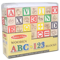 Professor Poplar's Ultimate Alphabet and Number Blocks (50pcs) Wooden ABC/123 Blocks By Imagination Generation