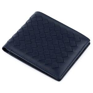 Image 4 - COMFORSKIN luksusowa marka Billetera Masculina ręcznie robiona na drutach skóra owcza męska torebka wysokiej jakości portfele na karty dla mężczyzn