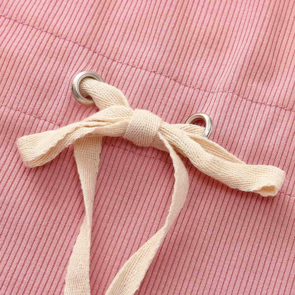 Mùa Hè bé Gái Quần Áo Không Tay Phối Sọc In Bodysuit Kid Bé Trai Bé Gái Hở Lưng Cotton Dây Jumpsuit Cổ Dây Rút