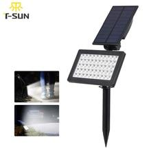 T SUNRISE 50 LED พลังงานแสงอาทิตย์ Spotlight 90 ติดผนังไฟแผงพลังงานแสงอาทิตย์โคมไฟภูมิทัศน์พลังงานแสงอาทิตย์ Sensitive กลางแจ้ง