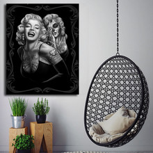 Marilyn Monroe HD Canvas Painting Posters Drawing Tattoo Prints Wall Pictures For Living Room Black And White Home Decor
