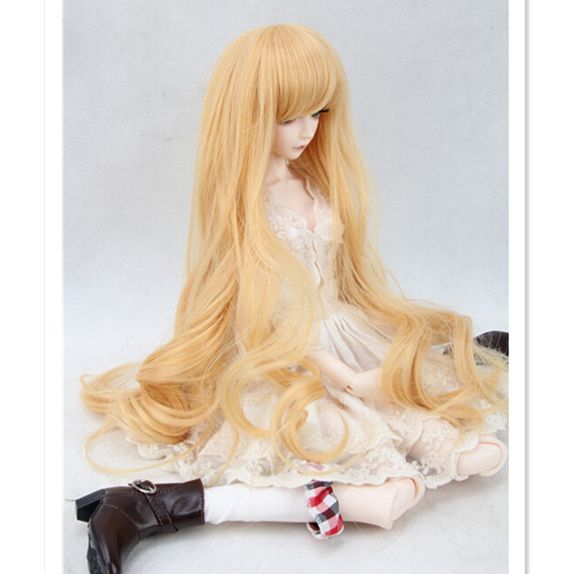 New Style 1/3 BJD Doll Wigs Synthetic Doll Hair for Dolls,Fashion High-temperature Wire Wavy Hair Accessories cheap synthetic hair wigs fashion wigs