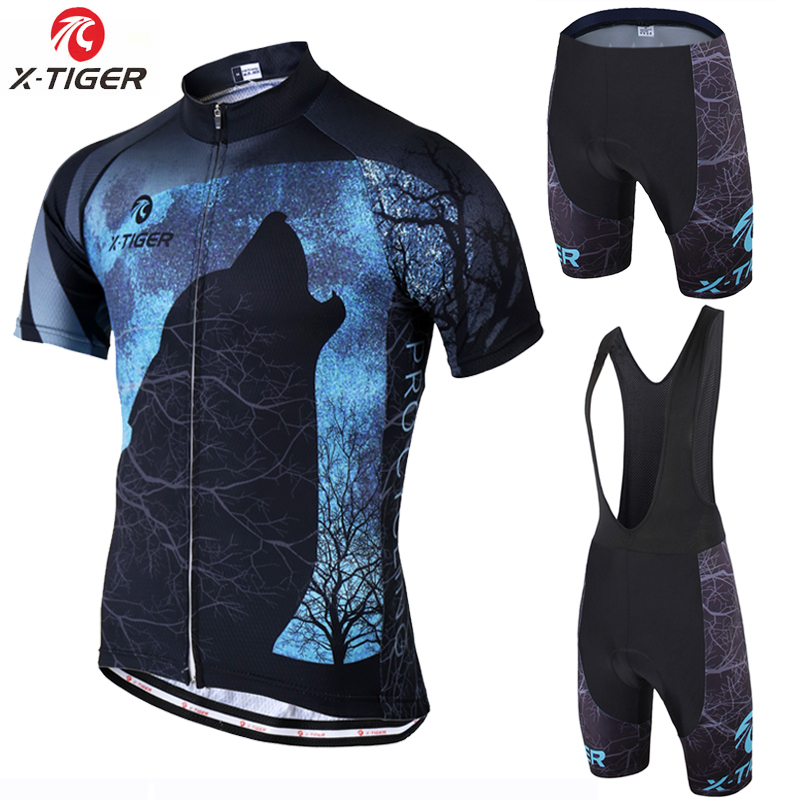X-Tiger Pro Summer Cycling Clothing MTB Bike Jersey Set Ropa Ciclista Hombre Maillot Ciclismo Racing Bicycle Clothes Cycling Set phtxolue women summer quick dry cycling jersey set maillot ropa ciclismo racing bicycle clothing mtb bike clothes cycling set