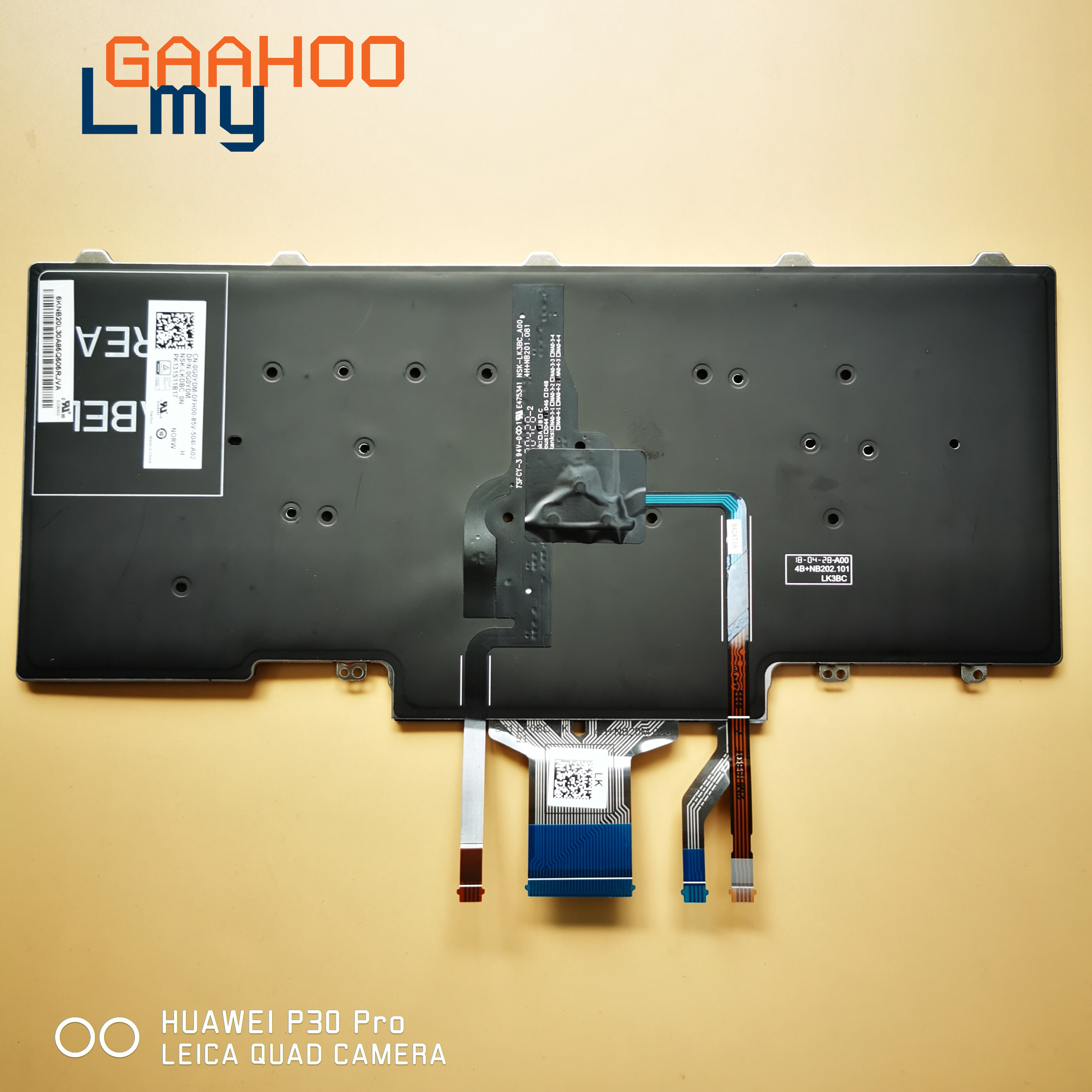 NEW Genuine Dell Latitude E5450 E7450 E7470 7480 Russian Keyboard Clavier