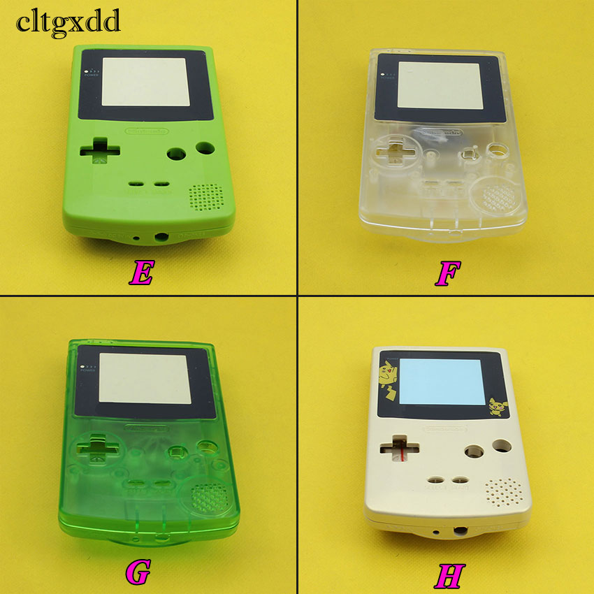 cltgxdd Full Housing Shell Cover for Nintendo For GameBoy Color Repair Part Housing Shell Pack For GBC