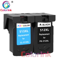 ColoInk 2Pack 512XL 513XL for Canon PG 512XL CL 513XL ink cartridge for Canon MP240 MP250 MP270 MP230 MP480 MX350 IP2700