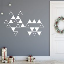 Geometric Mountains Wall Stickers Home Decor Living Room Removable Nursery Sun Wall Decals Arrows Decal Creative Stickers(China)