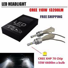 Coppia Lampade LED Fari Kit 110W 13200LM LED Cree xhp70 Chip 6000K H4 H7 H8 H9 H11 H1 9012 Canbus LED Car Headlight Lampadas