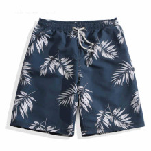 Men Women Kids Beach Wear Surf Shorts Boardshorts Water Sport Bermuda Leaves Printed Swim Trunks Quick Dry Couple Family Suit