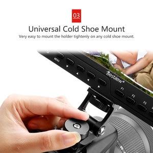 Image 4 - 범용 비디오 카메라 모니터 마운트 Feelworld F6S Bestview S7 S5 조절 180 회전 마운트 브라켓 차가운 신발 마운트