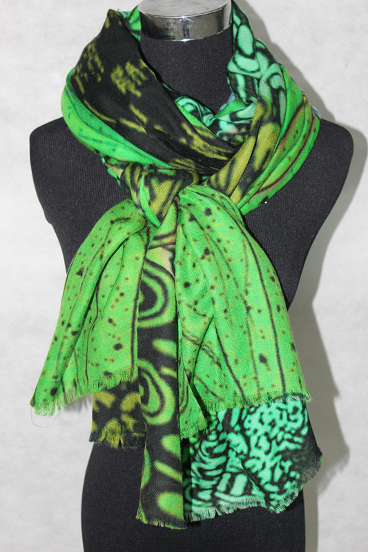 426c7fcfb 100%cashmere long scarf Peacock feathers fishion long women cashmere scarf  size:200x100 135g green