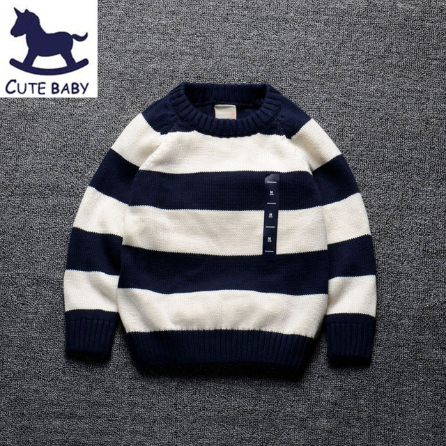 New 2016 Boys Sweaters Children's Pullover baby Sweater Kids Clothes Boys pullover 100%Cotton Baby boys Clothing for 2-10Ages