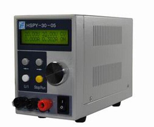 Arrivée rapide HSPY30V/5A Programmable numérique petite taille DC alimentation 0-30 V,/0-5A réglable avec port RS232