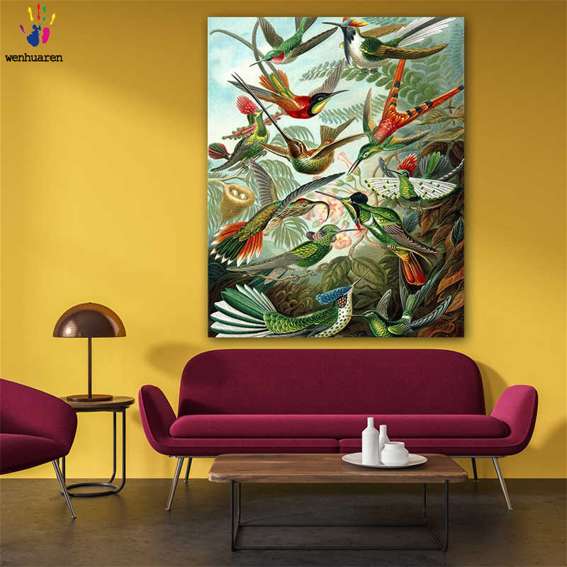 DIY colorings pictures by numbers with colors A flock of birds flying picture drawing painting by numbers framed