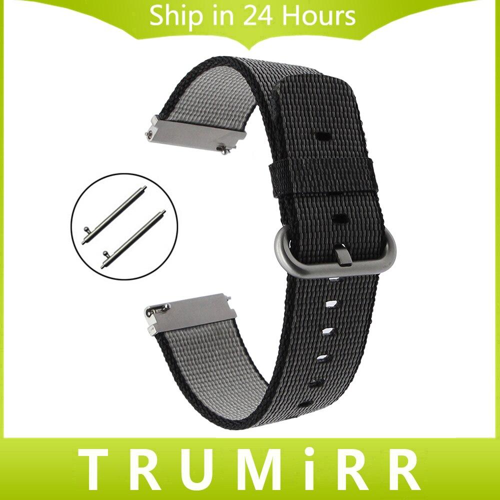 Quick Release Nylon Watchband 22mm Replacement Watch Band Men Women Universal Strap Fabric Wrist Bracelet Black Brown Blue White survival nylon bracelet brown