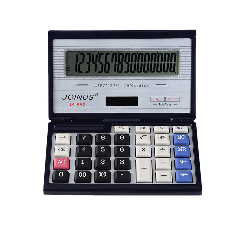 1pcs Foldable office use calculator Large computer keys Office big Computer Keys Solar power Calculator with coin batteries