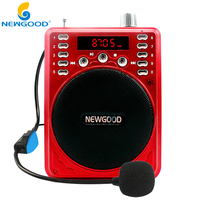 NEWGOOD F37B Multifunctional Waistband Loudspeaker Amplifier Micro SD TF Card FM MP3 Playing Music Megaphone