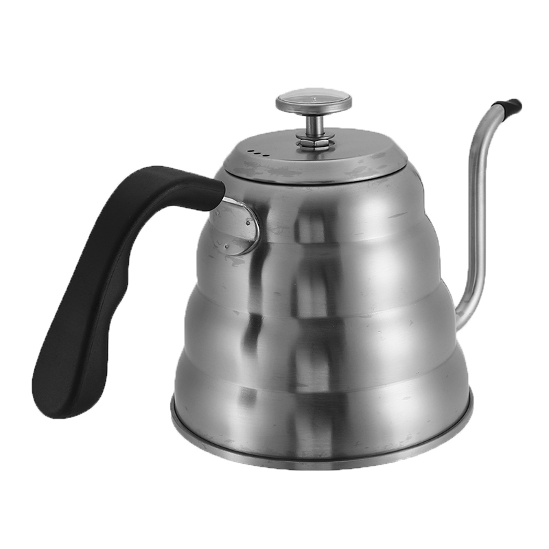 1200ML Tea Coffee Drip Kettle with Thermometer 304 Stainless Steel Teapot Barista Drink Tea Coffee Pot DIY Home Coffeeware Tools
