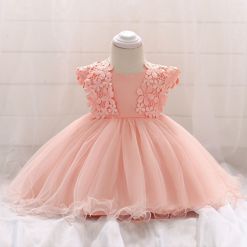Vintage Baby Dresses 1 2 Year First Birthday Girl Party Infant Dress 2018 Newborn Wedding Baptism Christening Gown For Baby Girl (4)
