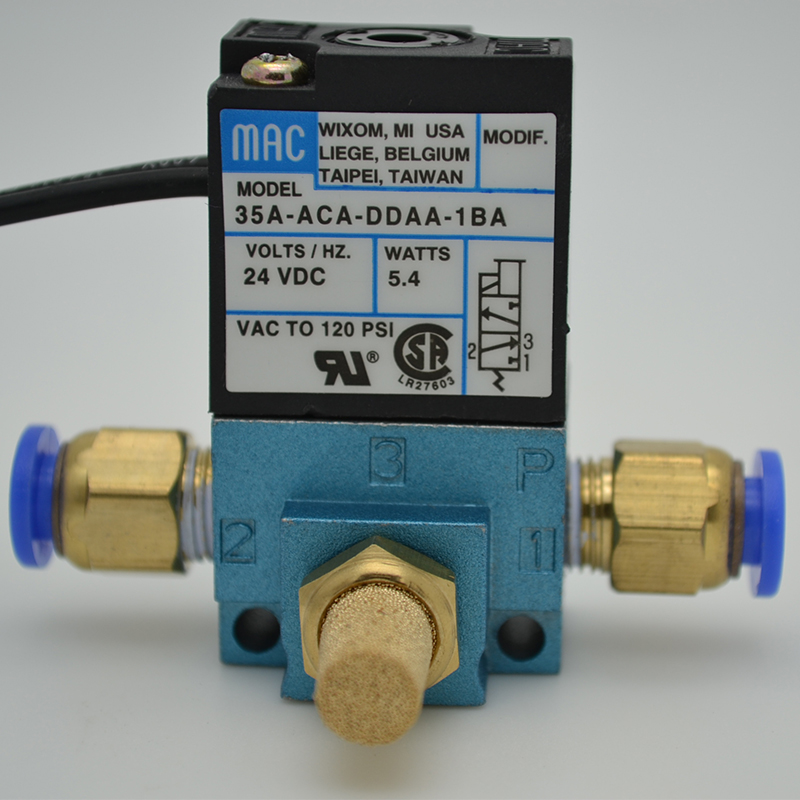 1/8BSP MAC 3Port High Frequency ElectronicBoost Control Solenoid Valve 35A-ACA-DDBA/AA/FA-1BA Silencer 12/24V Dispenser Marking1/8BSP MAC 3Port High Frequency ElectronicBoost Control Solenoid Valve 35A-ACA-DDBA/AA/FA-1BA Silencer 12/24V Dispenser Marking