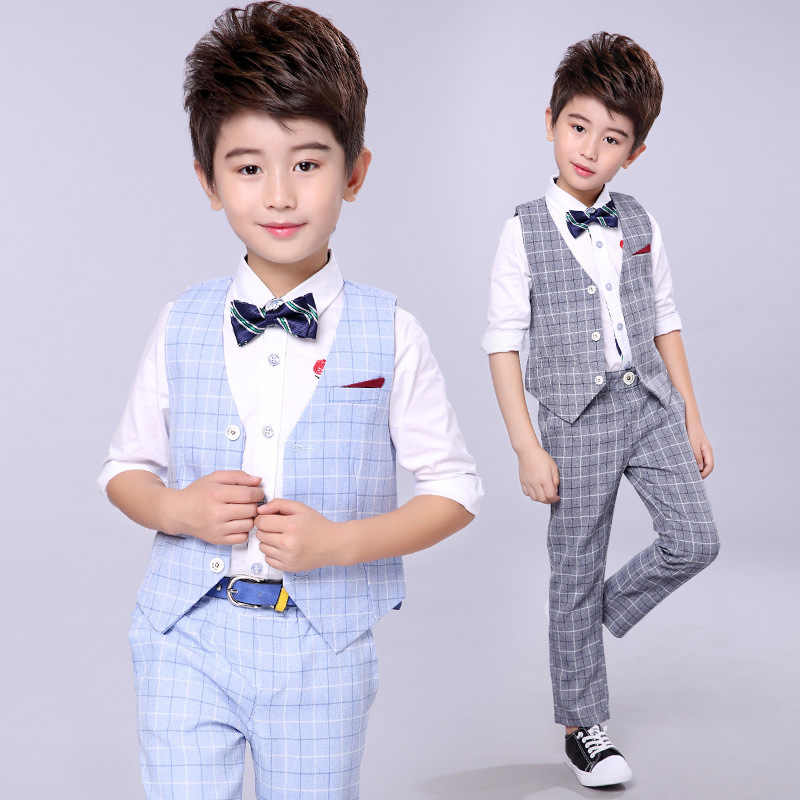 6cf220d3c ... Handsome Baby Boys Gentleman Suit Children's Formal Clothing Set Kids  Wedding Party Clothes 3-12Y