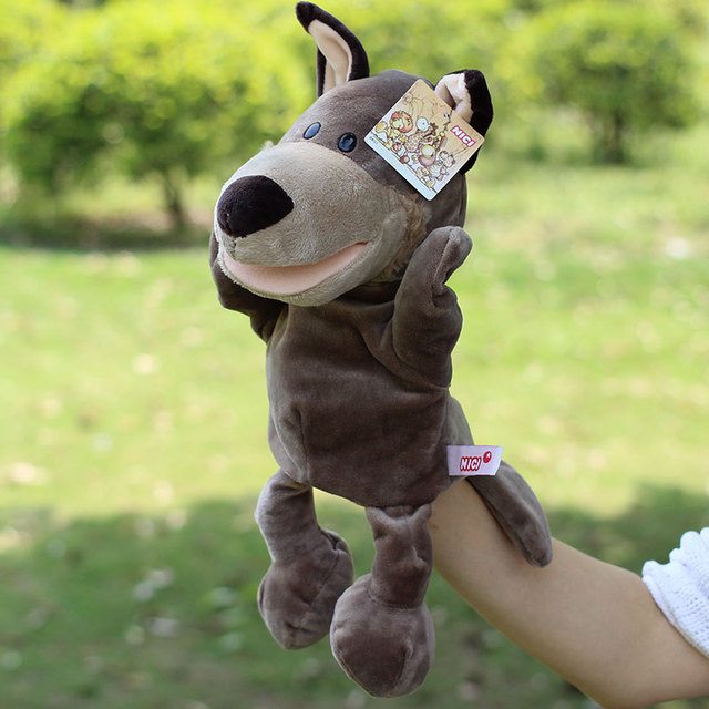 Hot Sale Plush Puppet Wolf Doll Early Educational Toys Hand Puppets Best Birthday Christmas Toy Gifts For Kids Children