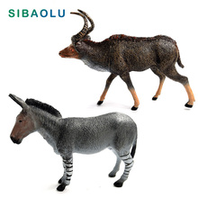 Antelope Zebra donkey figurine Plastic Craft Animal Model home decor miniature fairy garden decoration DIY accessories figure
