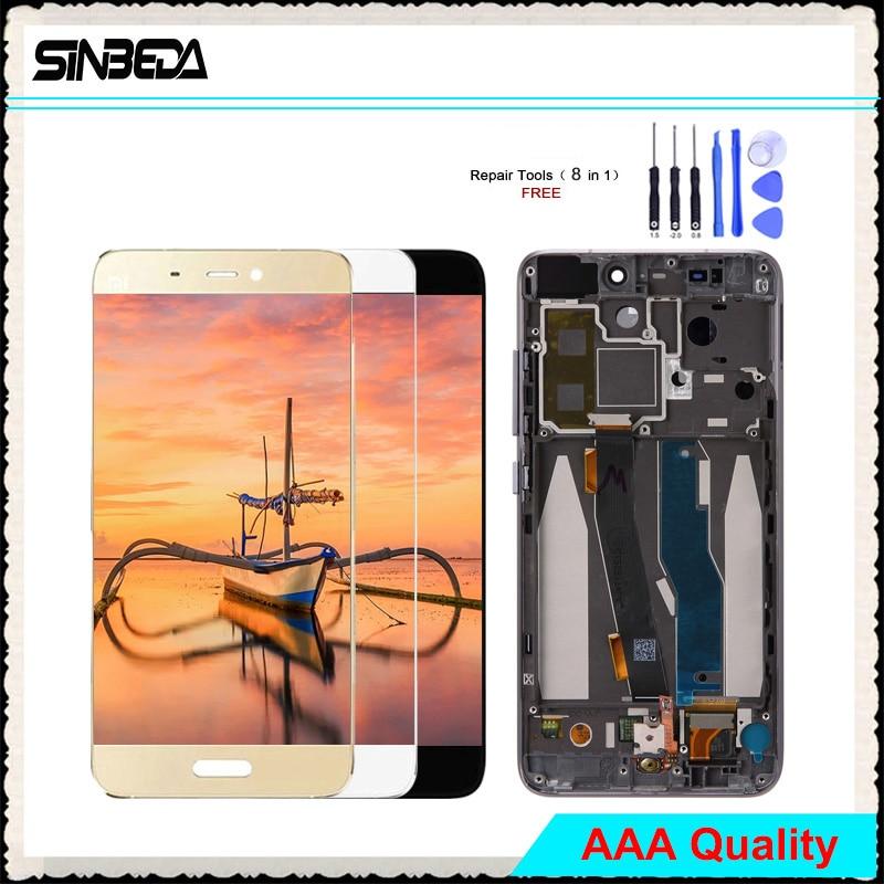 Sinbeda 5.15 LCD Affichage Pour Xiao mi mi 5 mi 5 LCD Affichage à L'écran Tactile Digitizer Assemblée + Cadre sans empreinte Pour mi 5