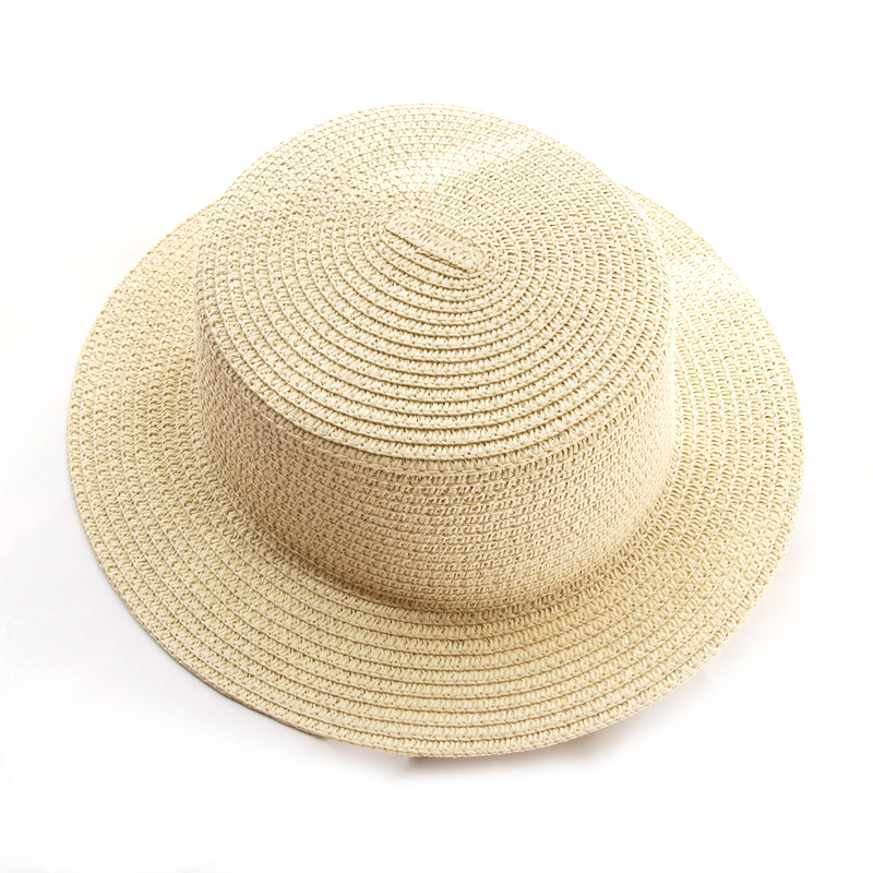 Summer Parent child simplicity Solid color Sun Hat Visor For Women Caps Fashionable Straw Hat Sea Beach Trip Caps girl hat in Women 39 s Sun Hats from Apparel Accessories