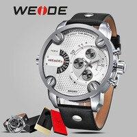 WEIDE homens relógio do esporte de luxo de couro relógio automático relogios vento mão original à prova de choque à prova d' água relógio de Pulso mehanical