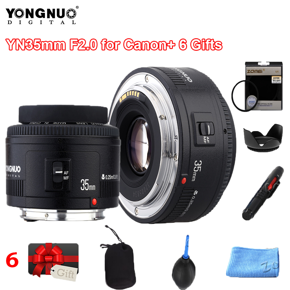 Yongnuo 35mm YN35mm F2.0 Wide angle Fixed/Prime Auto Focus Lens For Canon Canon Wide-angle Fixed Auto Focus Lens 60d 5DII 5D