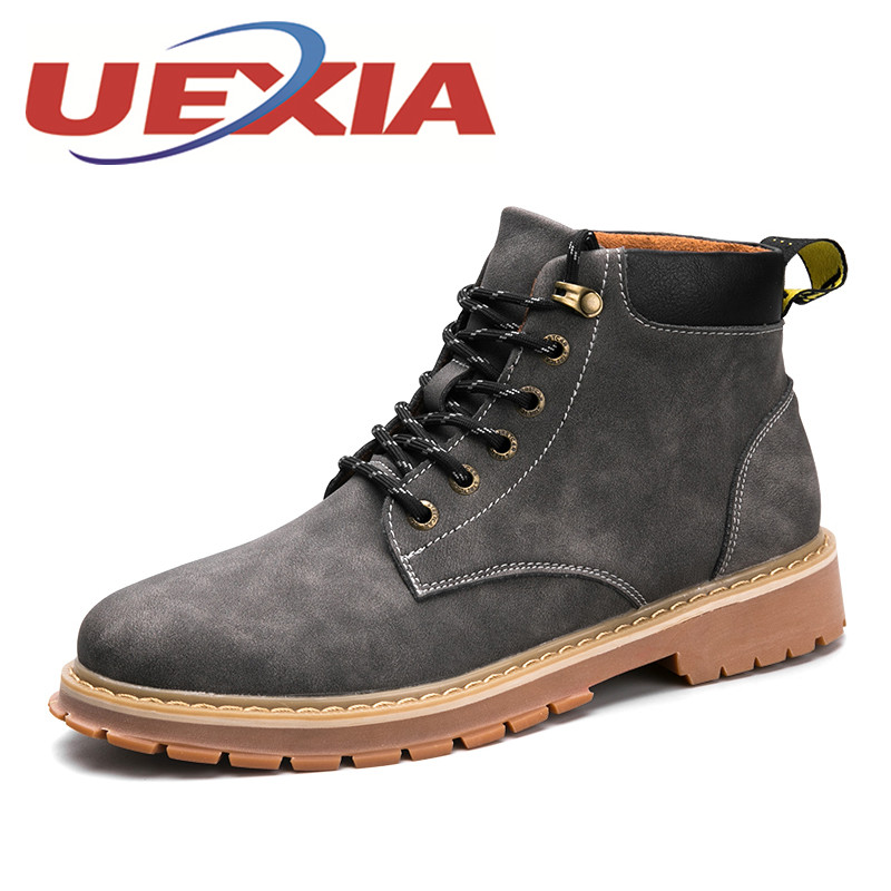 Outdoor Men'S Casual Travel Shoes Comfortable Ankle Boots Winter Men Fashion Martin Boots Vintage Leisure High Top Shoes Hombres men ankle boots women casual shoes breathable fashion cushioning soles high top lovers outdoor shoes size 35 44 b2299